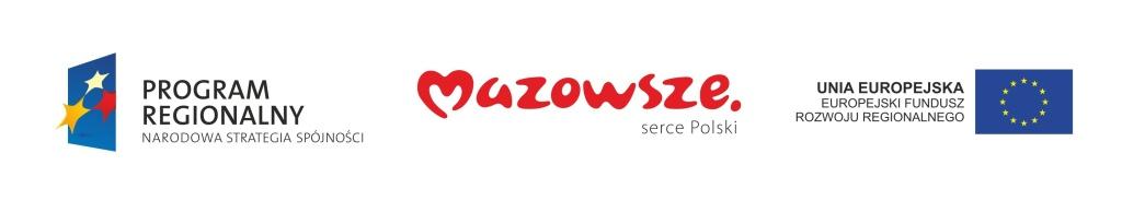 Fundusze Europejskie - Program Regionalny - Mazowsze